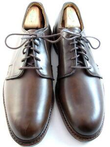 """NEW Allen Edmonds """"LEEDS""""  Leather Dress Plain-Toe Blucher Shoe 9.5 D Cigar(691)"""