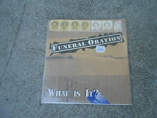 """FUNERAL ORATION-WHAT IS IT?-7"""" SINGLE-PS-HOPELESS-1995-NM"""