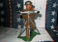 Rare Lead Toy  MILITARY SOLDIER WITH SURVEYOR TOOL SURVEYS Xmas Special 50% OFF