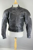 LOOKWELL LEATHER BIKER JACKET WITH REMOVABLE SHOULDER & ELBOW CE ARMOUR 40 INCH