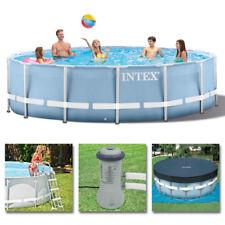 INTEX Komplettset Prism Frame Pool Ø 457x107 cm + Filterpumpe Swimmingpool
