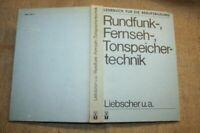 Lehrbuch Rundfunktechnik, Tonspeichertechnik, DDR, Schallplatte, Fernsehtechnik
