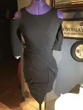 Kimberly Ovitz black stretch bodycon mini-dress size 4