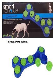 Puzzle Dog Bone Toy Hide Treats Interactive Dog Game Dog Bowl Dog Xmas Gift