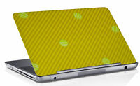 Asus Laptop Skin Stripe Print Yellow & Green Skin Sticker Cover Protector Cover