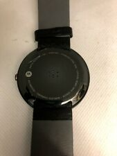 Moto 360 1st Gen Wi-Fi Only Smartwatch Stainless Steel Leather Band 316L #1413