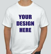 48 Custom Screen Printed WHITE T-Shirts - $3.50 each