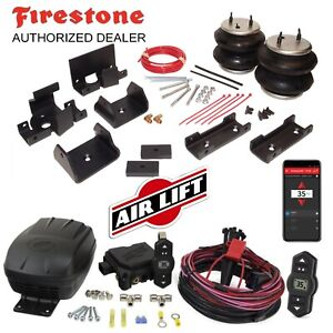 Firestone 2445 Ride Rite Air Bags Wireless AirLift for 07-20 Toyota Tundra TRD