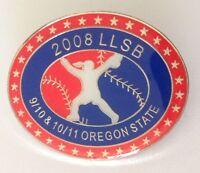 2008 LLSB Oregon State Little League Softball Pin Badge Rare Authentic (N3)