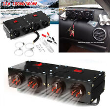 12V 4 Hole Car Portable Heating Dry Heater Fan Defroster Demister Double Switch