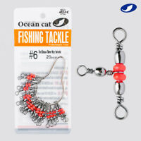 OCEAN CAT Three-Way Brass Swivel Barrel Swivel  Cross Line Swivel Fishing Tackle