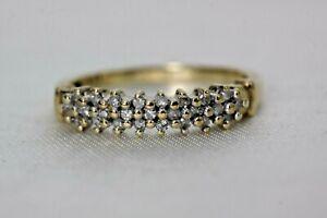9ct Yellow Gold 0.15ct Diamond Half Eternity 1.85g Size L Ring - 0140142
