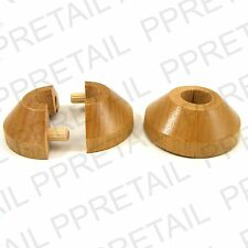 2 X Beech RADIATOR PIPE TO WOODEN FLOOR COVER Rose Collar Laminate Ring Surround