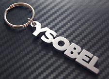 YSOBEL nom personnalisé Porte-clé porte-clé Sur-mesure Acier Inoxydable Cadeau