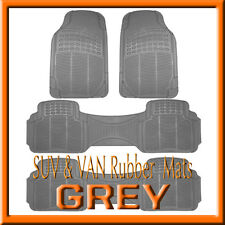 HONDA   PILOT   ALL WEATHER  SEMI CUSTOM  GRAY RUBBER FLOOR MATS / 4 PCS