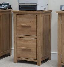 Eton solid oak modern furniture two drawer office computer filing cabinet