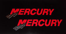 2 Mercury Outboard  RED & CHROME Tails Marine Vinyl set 17 inch