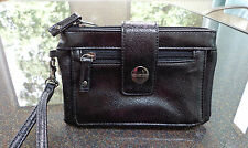 Kenneth Cole Unlisted Get the Skinny Black Flap Tab Clutch/Wristlet Ret $60