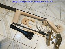 3/4 Upright Bass part:neck with fingerboard,bridge,tailpiece,unite style pegs