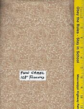 "FWW CAMEL,  108"" EXTRA WIDE QUILT BACKING BTY 100% COTTON FREE WAY CAMEL"