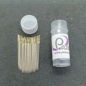Cross Stitch Needles Embroidery Tapestry Gold Tail Sizes 22 pack of 30