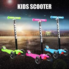 3 Wheel Foldable Kick Scooter LED Flash Light Child Scooter Gift Kid Toy AU