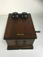 Antique WESTERN ELECTRIC 48-A TELEPHONE PHONE WOOD RINGER BOX - 5 Bar Magneto