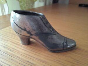 Vintage Silver Shoe Pin Cushion