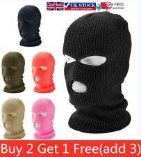 3 Hole Full Face Ski Mask Winter Cap Balaclava Hood Beanie Warm Tactical Hat Cap