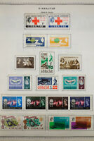 Gibraltar Mint 1950's to 1970's Stamp Collection