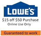 (Three) 3x Lowes $15 Off $50 Online Code. Online Use Only. QUICK EMAIL DELIVERY.