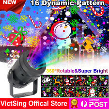 Christmas Projector Lights Moving Animation Xmas Party LED Projection Laser Lamp
