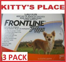 Frontline Plus Flea & Tick Treatment For Small dogs Up To 10kg 3 Pack