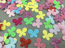 200pcs Mixed Plaid Sequins butterfly Felt Appliques crafts Sewing 25mm