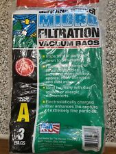 Genuine Hoover Vacuum Type A Bags Allergen Filtration 3 Pack for Uprights