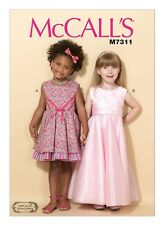 McCall's Sewing Pattern M7311 SZ 6-8 Childrens Girls Sleeveless Dresses Sash