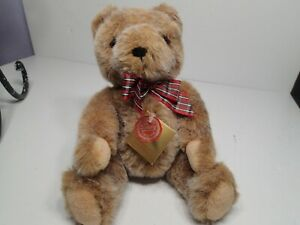 """Perfect Hermann Original Teddy Bear Made in West Germany with tags 11"""" Jointed"""