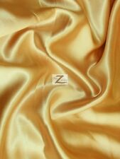 SOLID SHINY BRIDAL SATIN FABRIC - Gold - BY THE YARD DIY BRIDAL DRESS DECOR SILK