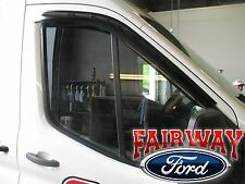 15 thru 17 Transit OEM Ford Side Window Deflector Rain Guard 2pc MED & HIGH ROOF