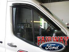 15 thru 17 Transit OEM Ford Side Window Deflector Rain Guard 2pc MED & HIGH ROOF