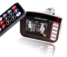 "1.8"" LCD Car SD Card MP3 MP4 Player Wireless FM Transmitter Remote Control *BK"