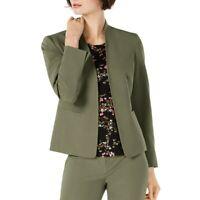 NINE WEST NEW Women's Solid Open-front Lined Blazer Jacket Top TEDO