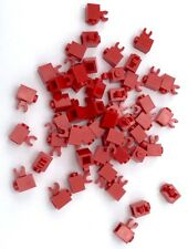 Lego 50 New Red Bricks Modified 1 x 1 with Clip Horizontal  Pieces