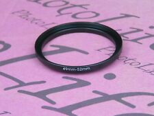 49mm to 52mm 49-52 Stepping Step Up Filter Ring Adapter 49mm-52mm