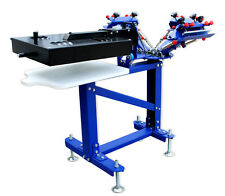Micro-adjust 3 Color Screen Printing Press With Rotary Dryer Vertical Machine