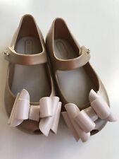 Mini Melissa Gold Glitter Ultragirl Sweet Iii Mary Jane Shoes 9