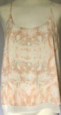 Rachel Zoe Size Small Snakeskin Animal Print Pink Cream White Camisole Tank Top