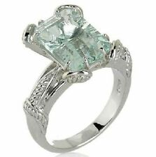 HSN Victoria Wieck Sterling Silver 3.90 Ct Sky Blue Topaz Wrapped Ring Size 7