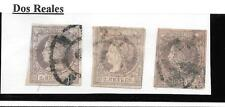 España. 3 sellos de 2 Reales. Edifil nº 56