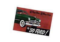 1950 FORD Brochure / Flyer / Catalog: CUSTOM,DELUXE,WAGON,BUSINESS COUPE,V-8,V8
